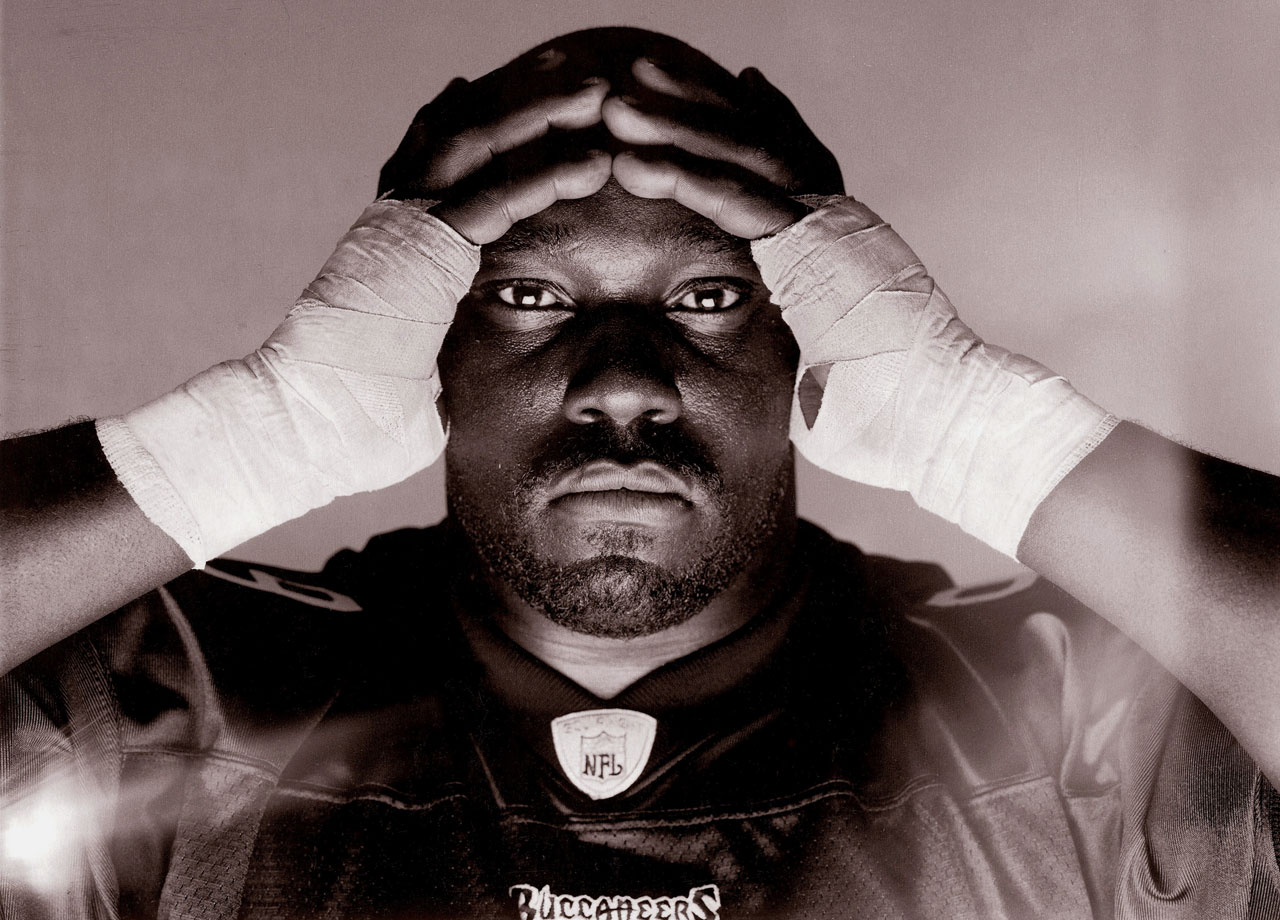 Warren Sapp poses for a portrait on Oct. 14, 2002 in Tampa, Fla.
