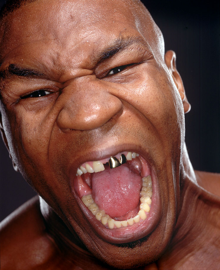 Mike Tyson puts on his ''Screaming Man'' face during an SI photo shoot.