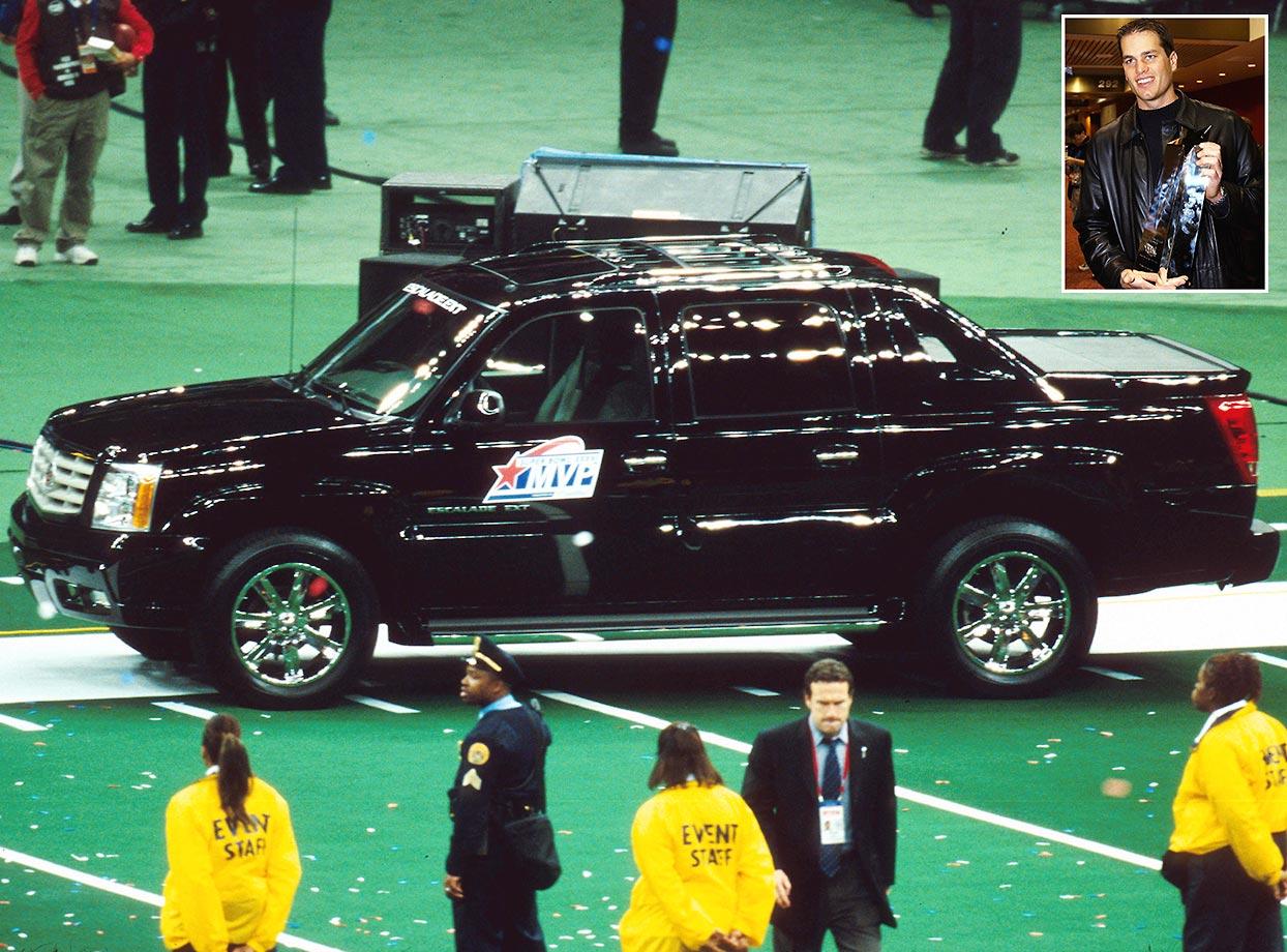 Tom Brady of the New England Patriots won the MVP honors of Super Bowl XXXVI.