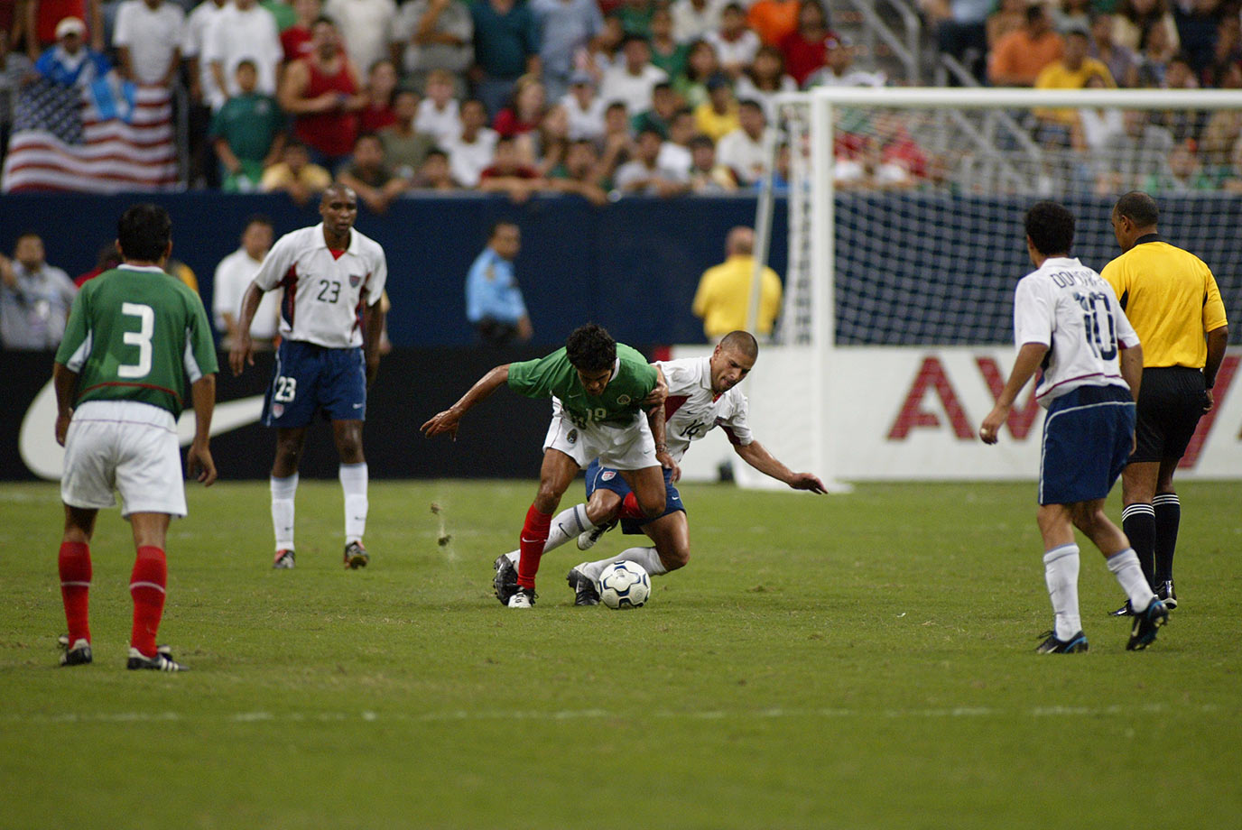 In their first meeting since the 2002 World Cup, an all-MLS squad of Americans played Mexico to a 0-0 draw in front of more than 69,000 people in Houston.