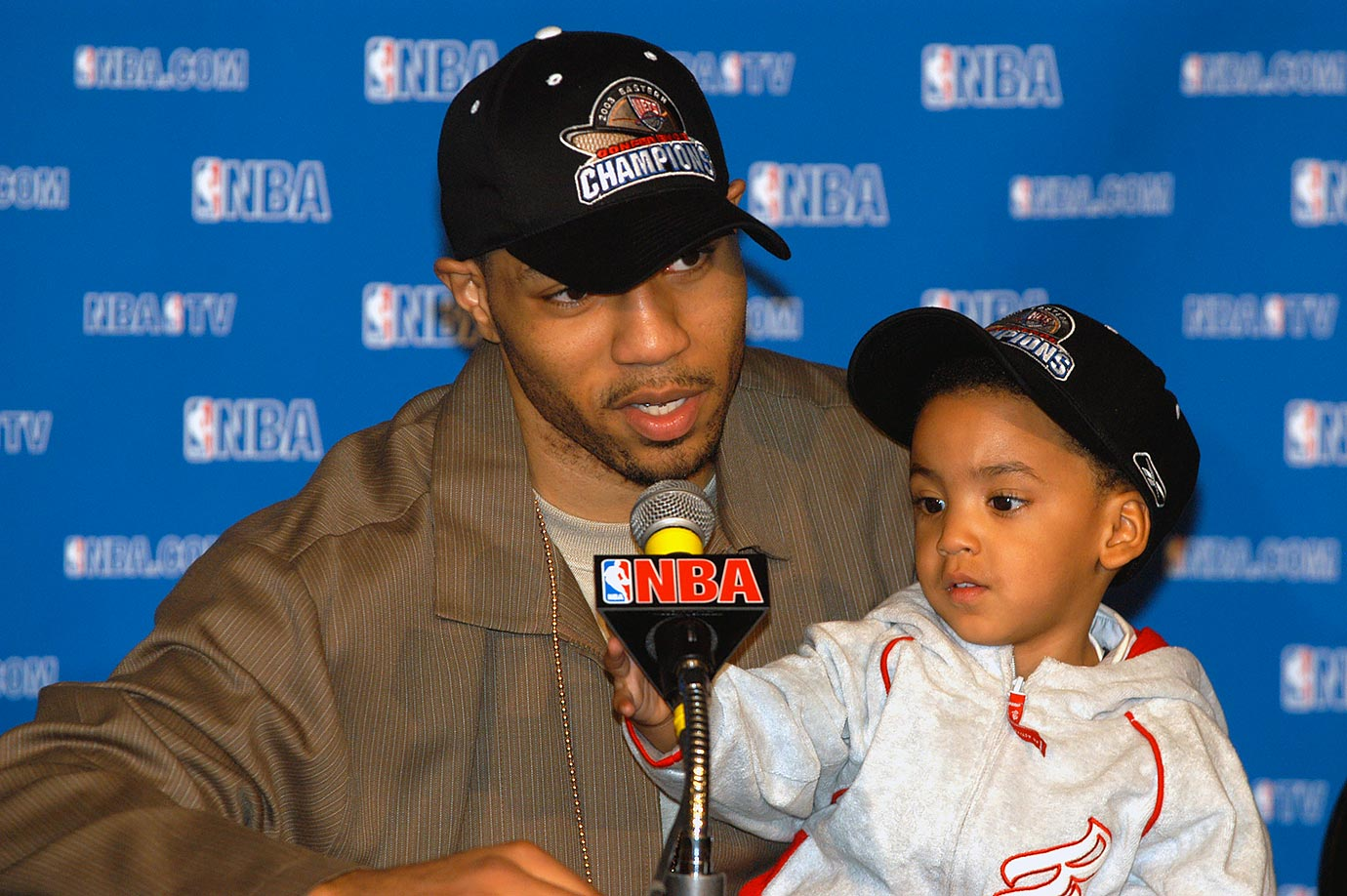 Kenyon Martin and son Kenyon Jr.