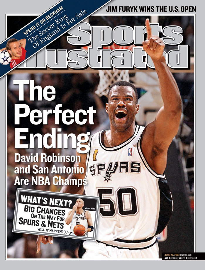 Robinson capped his career with a championship in 2003 as the Spurs beat the Nets in the NBA Finals.