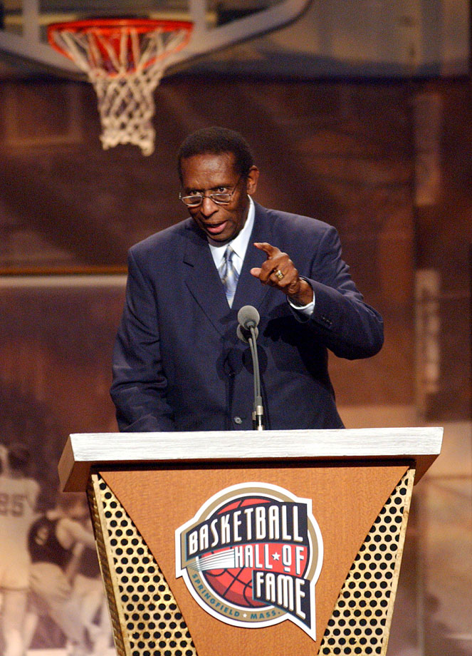 Earl Lloyd was inducted into the Basketball Hall of Fame as a contributor in 2003.