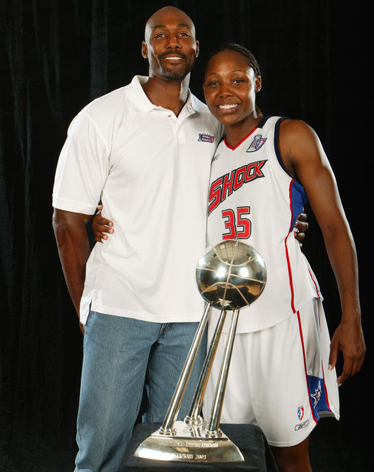 Cheryl Ford, the 2003 WNBA Rookie of the Year, is a proud Louisiana Tech alumna just like her dad Karl Malone.