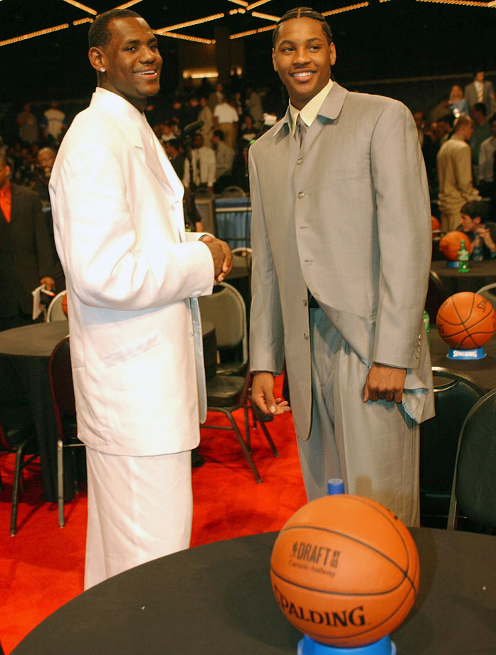 The dynamic duo pose on draft night.