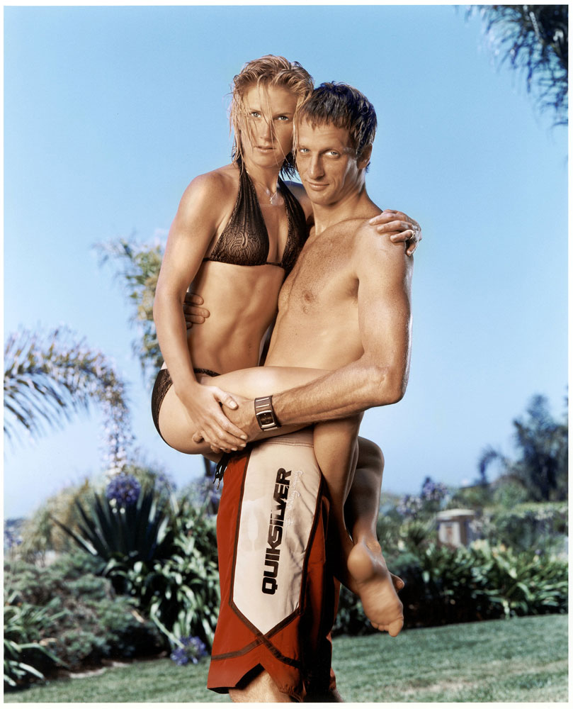 "In 2003, Erin and Tony Hawk pose for SI's Swimsuit Special Feature, ""Athletes and Wives."""
