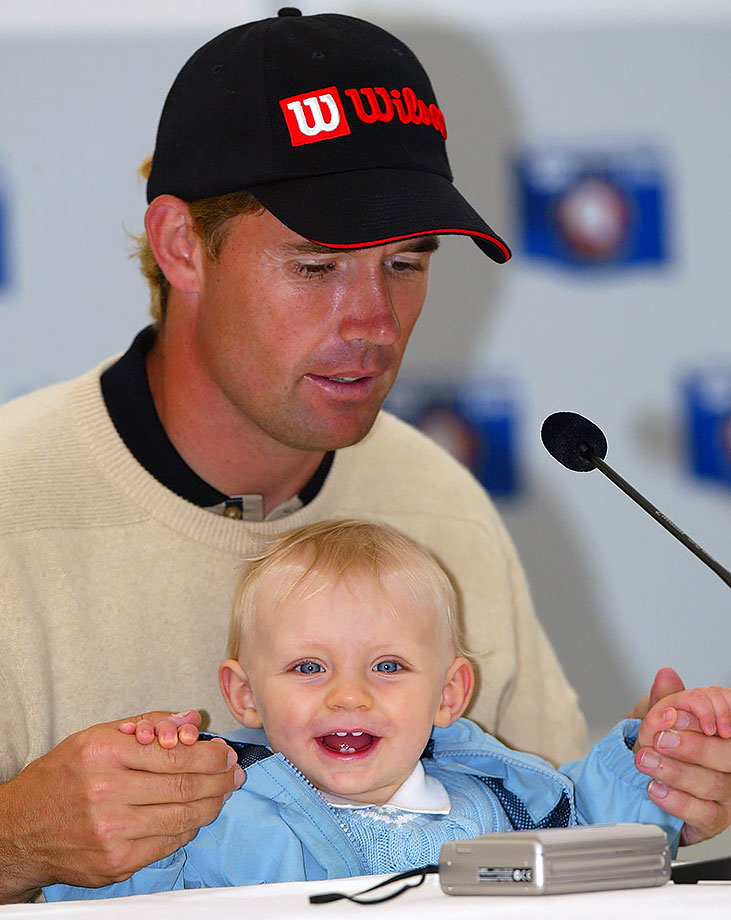 Padraig Harrington and son Patrick