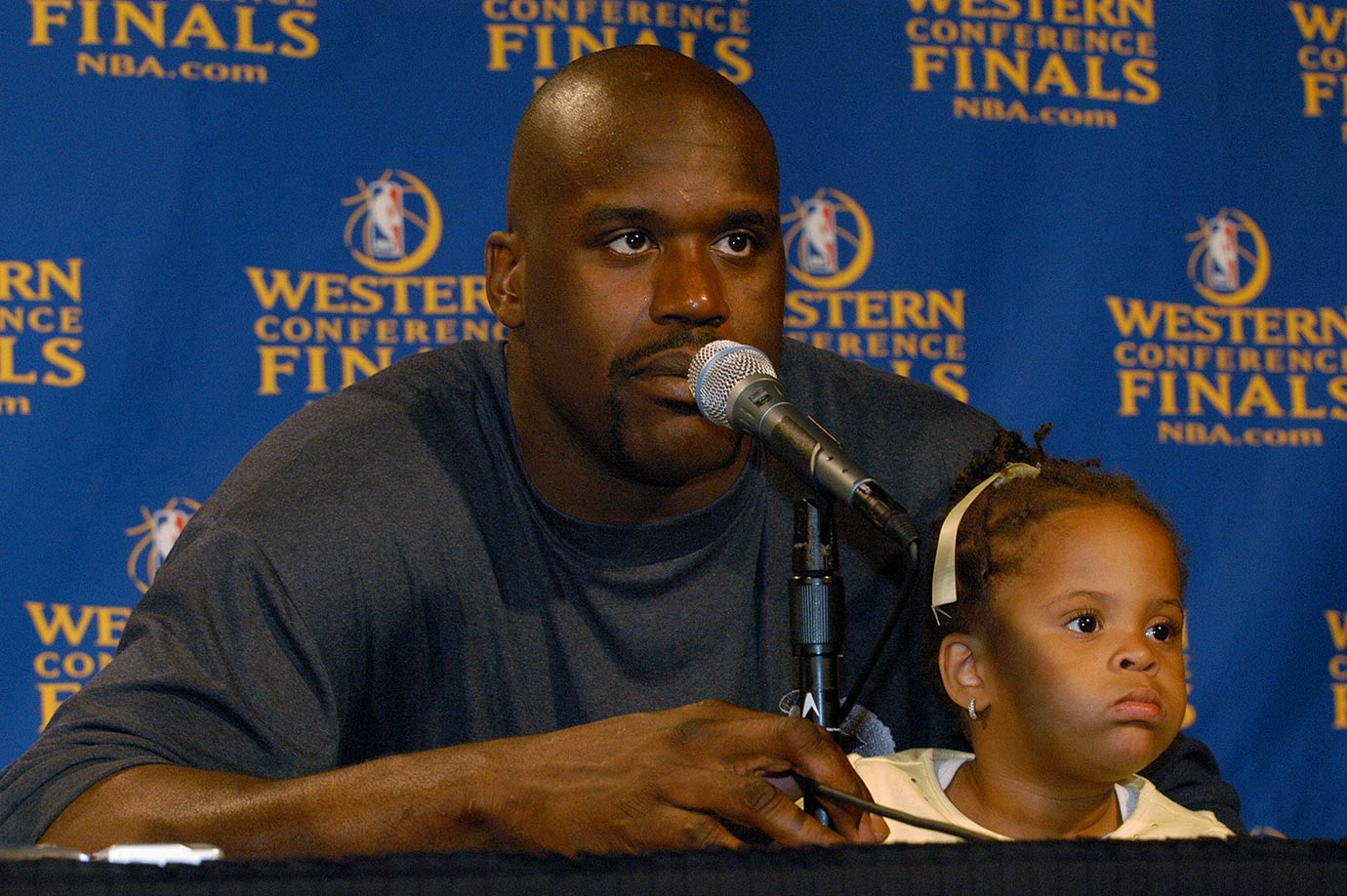 Shaquille O'Neal and daughter Amirah