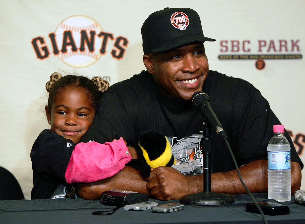 Barry Bonds and daughter Aisha