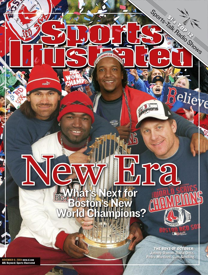 with Johnny Damon, David Ortiz and Curt Schilling