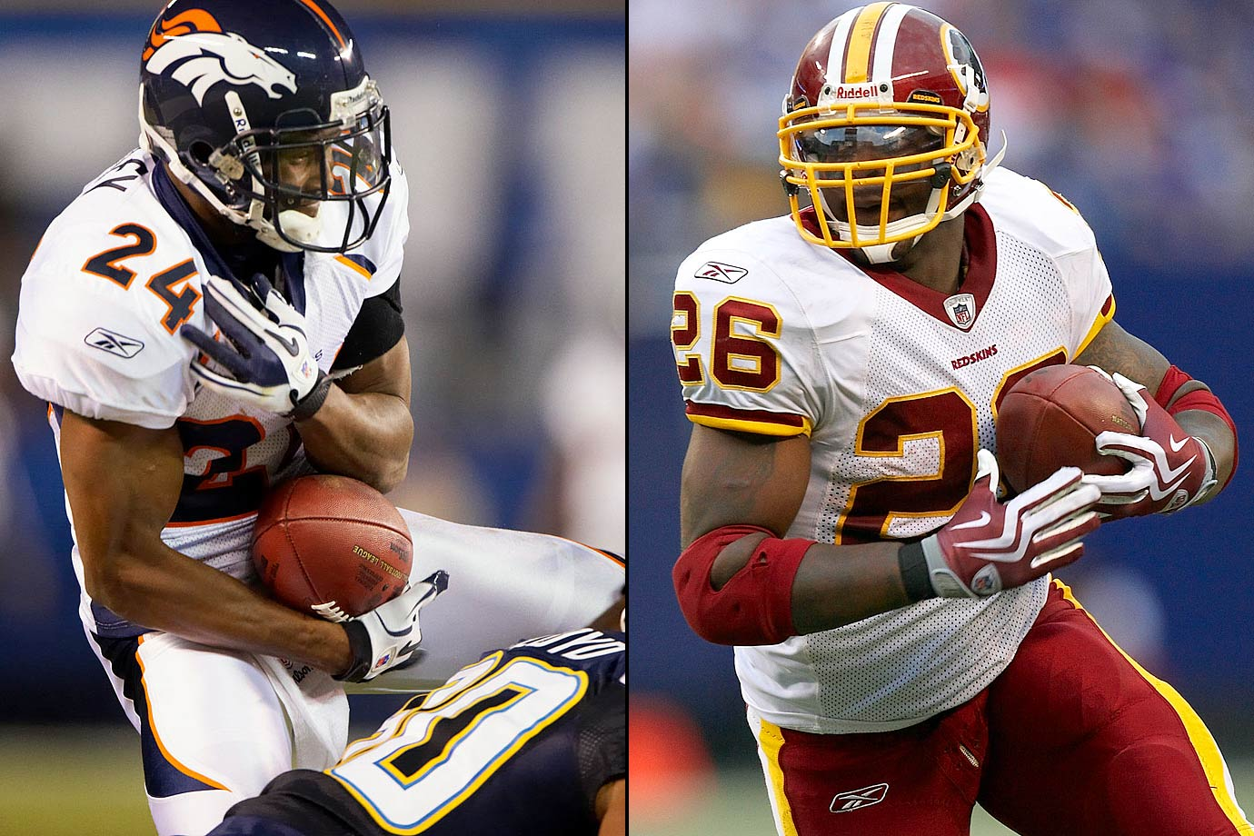 Champ Bailey and a second-round pick to the Broncos from the Redskins for Clinton Portis. One of the most intriguing and fair deals in NFL history saw the top cover cornerback in the game, Bailey (plus a draft pick that became running back Tatum Bell), go west while one of the league's top runners, Portis, headed to D.C.