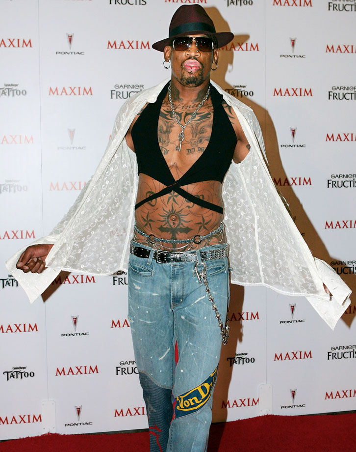 Rodman helped Maxim celebrate it's Hot 100 list in 2005.