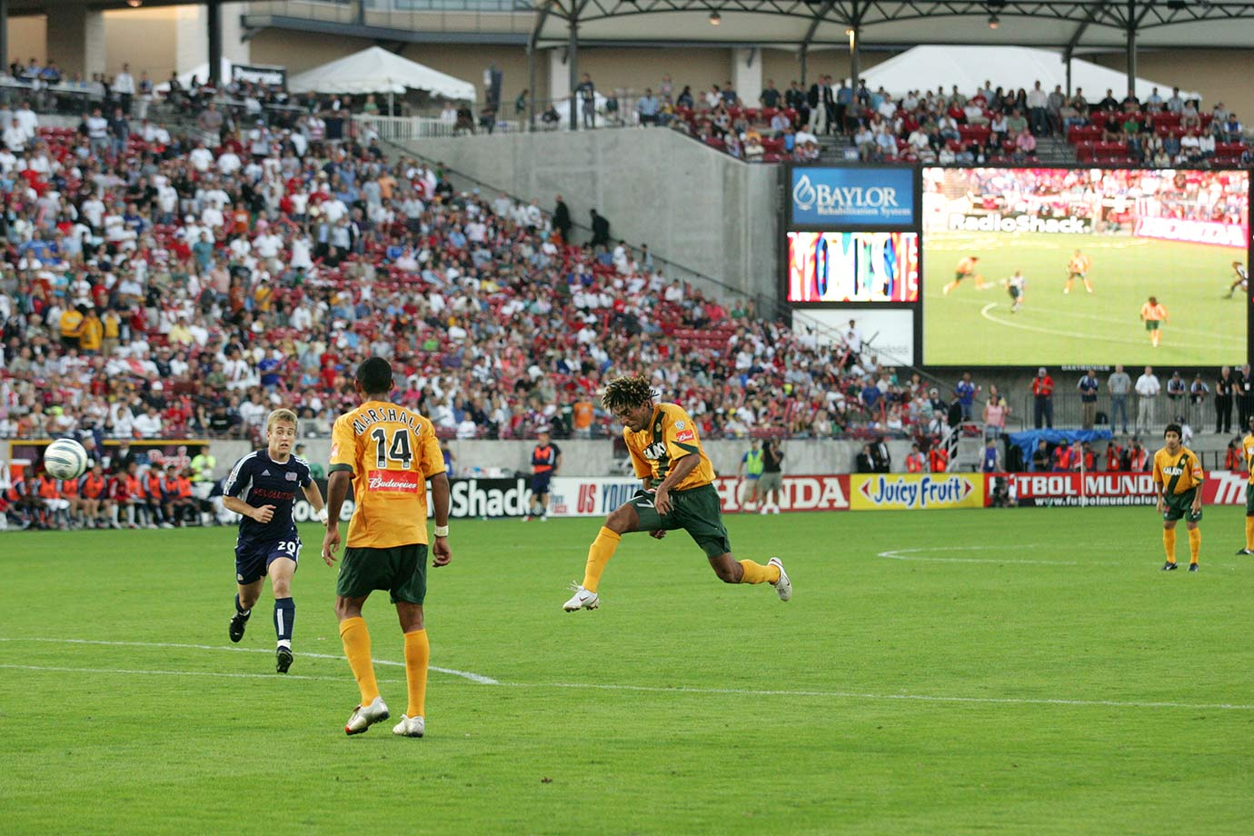 <p>2005 — Los Angeles Galaxy (beat New England Revolution 1-0 in extra time)</p>