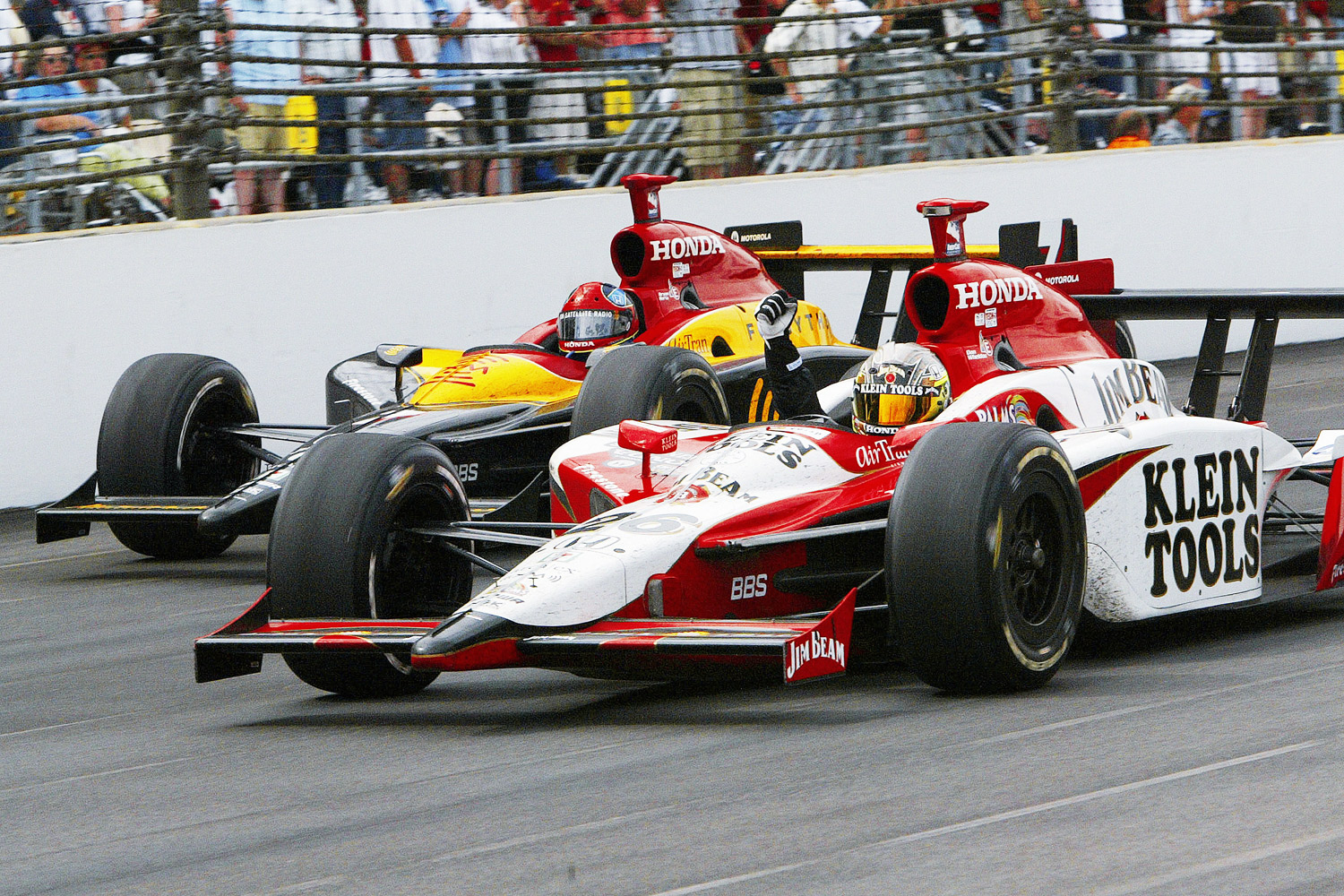Dan Wheldon, shown here, won the Indy 500 in 2005, marking the first time an Englishman won the storied race since Graham Hill's victory in 1966. In 2011, Wheldon tragically lost his life in a 15-car accident at the IZOD IndyCar World Championship at Las Vegas Motor Speedway.