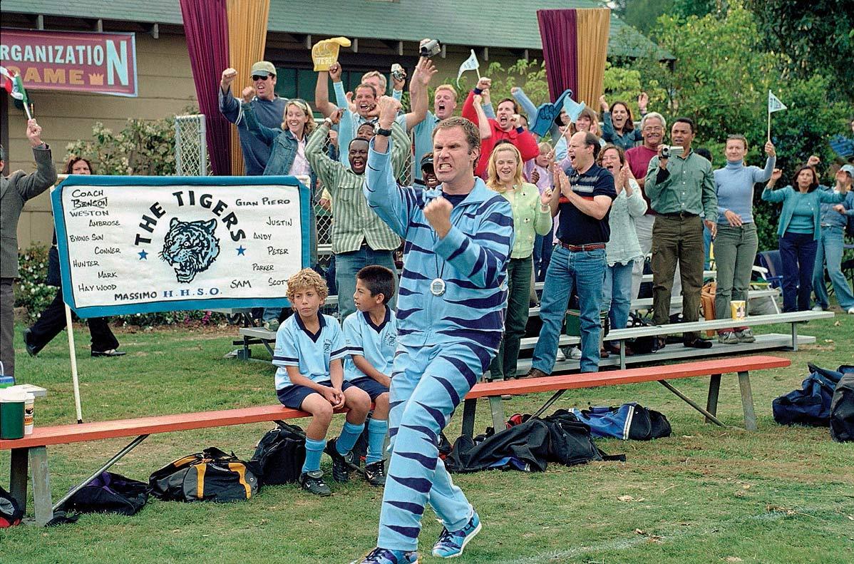 "Will Ferrell, as Phil Weston, films a scene for the movie ""Kicking and Screaming"" on April 4, 2005."