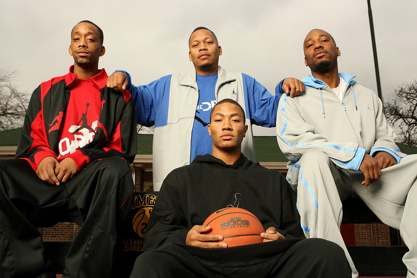 Derrick Rose learned how to play from his older brothers Dwayne, Reggie and Allan.
