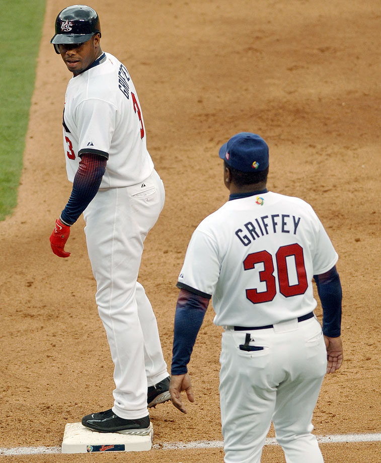 In 2006, Ken Griffey Jr. played for Team USA, and his father joined him as a coach, at the inaugural World Baseball Classic. While Griffey starred, batting .524 and being named to the All-WBC team, the U.S. was a huge disappointment, failing to reach the semifinals.