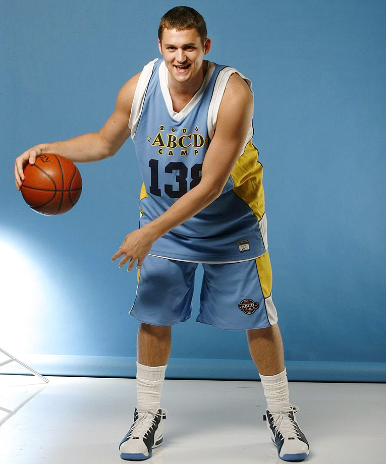 Here's Love donning his Denver Nuggets-colored ABCD jersey.