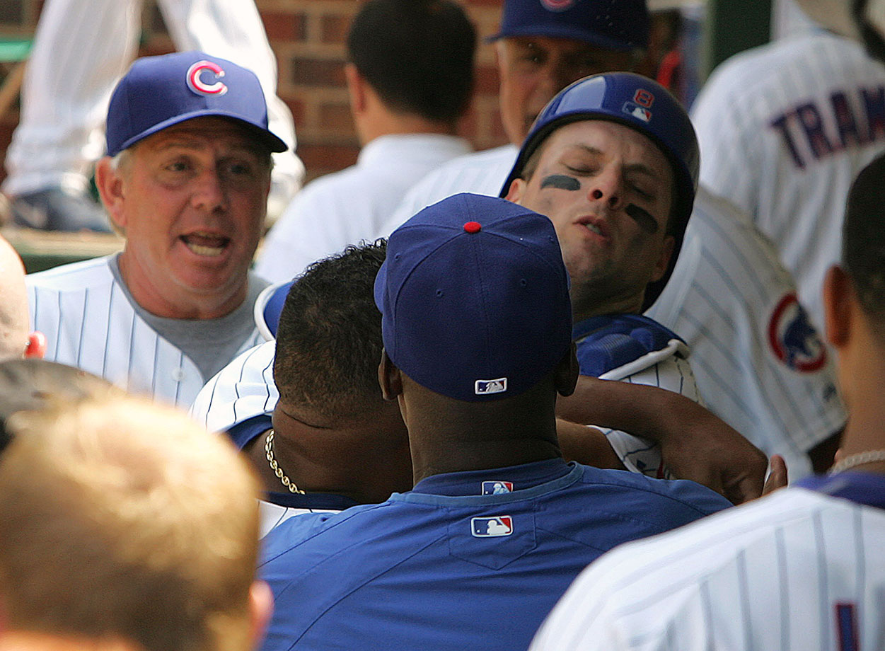 Zambrano shoved his batterymate after Barrett allowed a pass ball and committed a throwing error during the same inning of a June 2007 game against the Braves. Both were taken out of the game, but the fight continued in the clubhouse. Barrett wound up bruised and needing stitches, but he accepted Zambrano's apology.