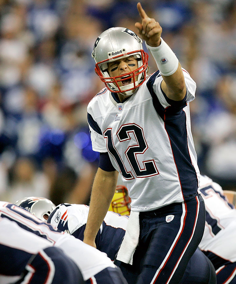 The Patriots stayed on course for an unbeaten season (9-0) as Tom Brady threw two of his three touchdown passes in a four-minute span in the fourth quarter to overcome a 10-point deficit and beat Super Bowl champion Peyton Manning and the Colts. (Brady 7, Manning 3)