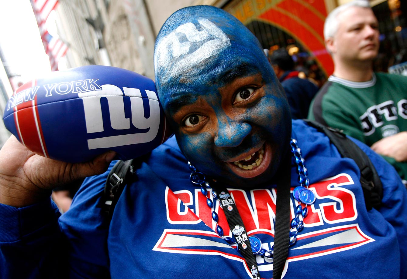 New York Giants fan in 2007.