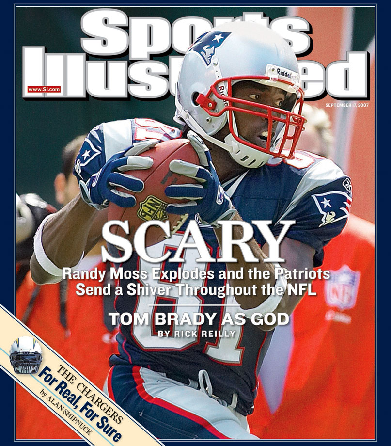Randy Moss to the Patriots from the Raiders for a fourth-round pick. On draft weekend, the team-minded Patriots shocked the NFL by dealing for Moss, whose talent as a game-changing receiver had supposedly atrophied during his two mostly desultory seasons in Oakland. But Moss, as it turns out, was merely disinterested in losing, and his reemergence in New England coincided with the team's perfect regular season. Moss caught 98 passes for 1,493 yards and had a single-season NFL record 23 touchdowns. Not bad production in exchange for a fourth-round pick that Oakland used to select little-known University of Cincinnati cornerback John Bowie.