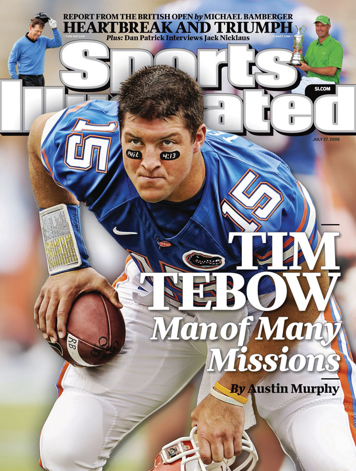 With two national championships and a Heisman trophy to his name, the Florida Gators' quarterback long ago secured his legacy as one of college football's all-time greats. It is off the field, living a life devoted to Christian humanitarianism, where Tebow continues to make his mark.