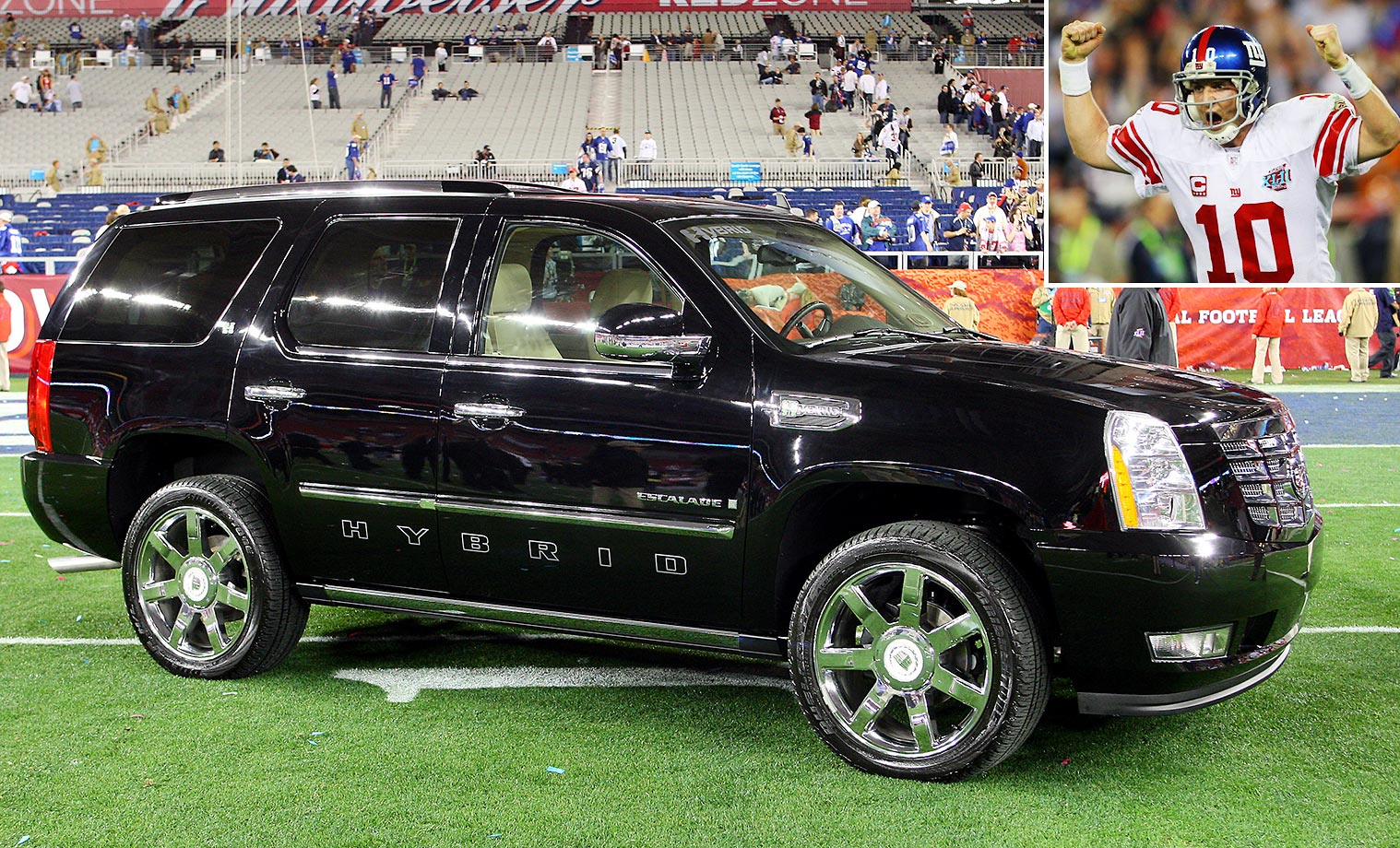 Eli Manning of the New York Giants won this Cadillac Escalade at Super Bowl XLII.