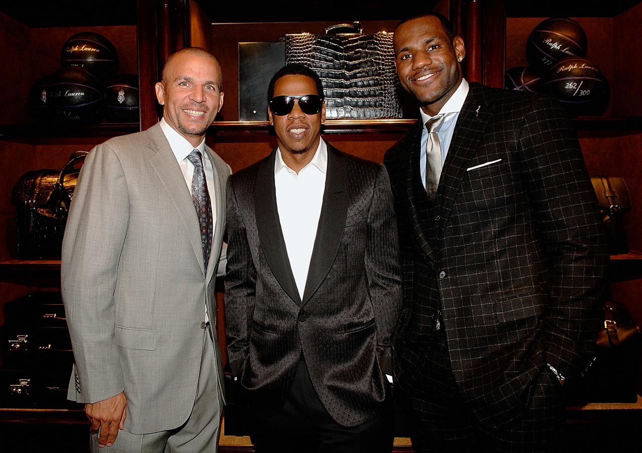 Jason Kidd, Jay-Z and LeBron James attend a cocktail party LeBron's Foundation at the Ralph Lauren Store in New York City. Swanky.