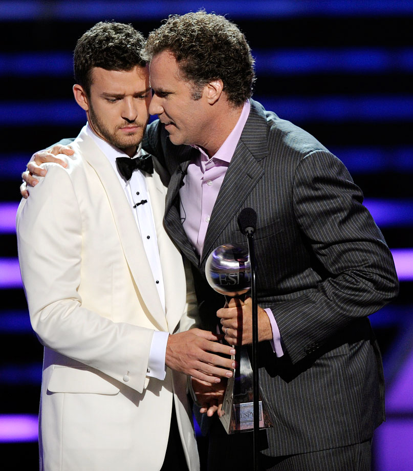 Will Ferrell accepts the Best Male Athlete Award for Tiger Woods during the ESPY Awards hosted by Justin Timberlake on July 16, 2008 at the Nokia Theater in Los Angeles.