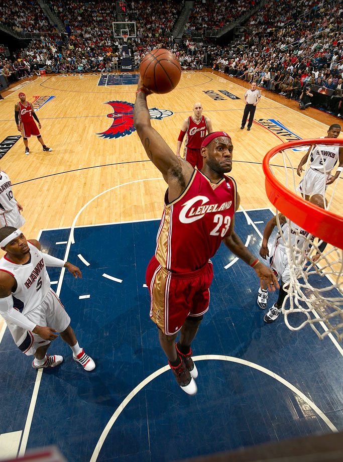 "Hawks forward Josh Smith described LeBron James as being ""out of his mind."" That was a fitting summation of LeBron's performance: 47 points and 15-of-25 shooting from the field, along with 12 rebounds, eight assists and only one turnover in Cleveland's 97-92 win enroute to sweeping Atlanta."