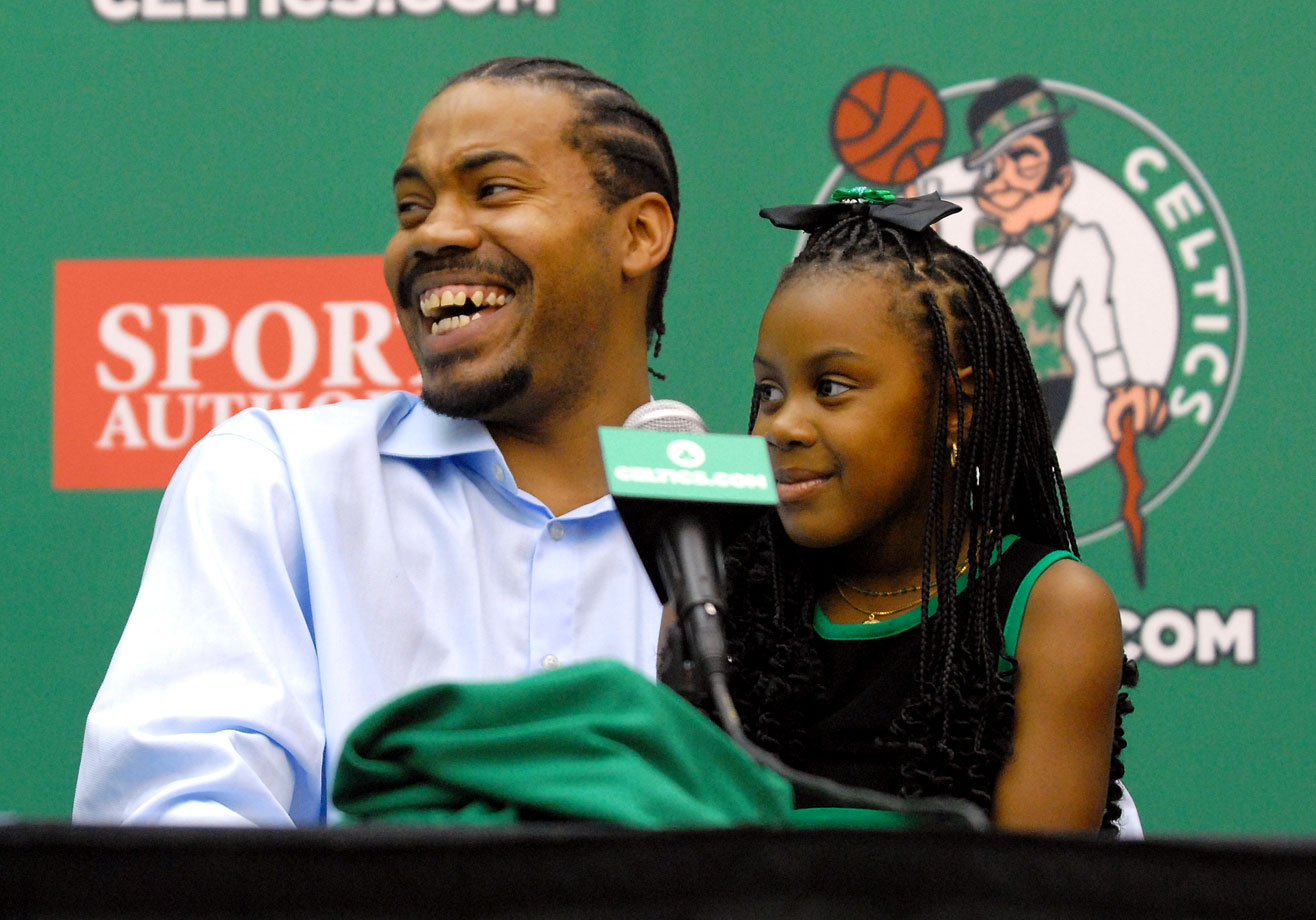 Rasheed Wallace and daugther Rashaya