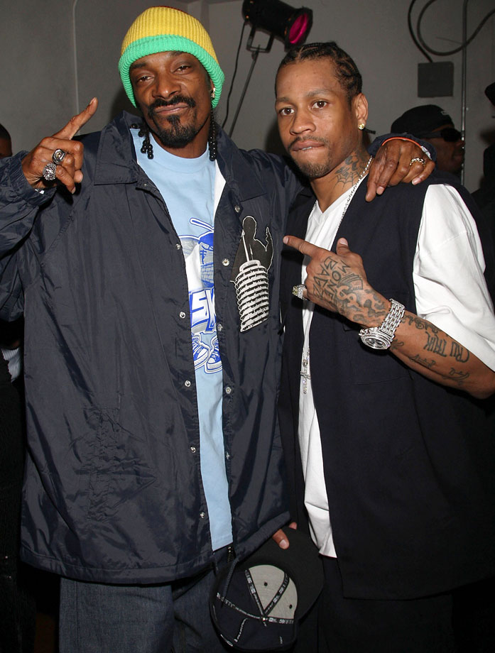 Snoop Dogg and Allen Iverson attend Harlem Nights In Hollywood New Years Eve Bash on Dec. 31, 2009 at Siren Studios in Hollywood, Calif.