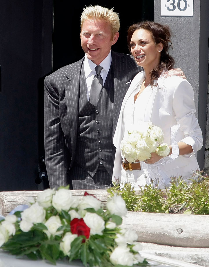 Boris Becker and Sharlely Kerssenberg