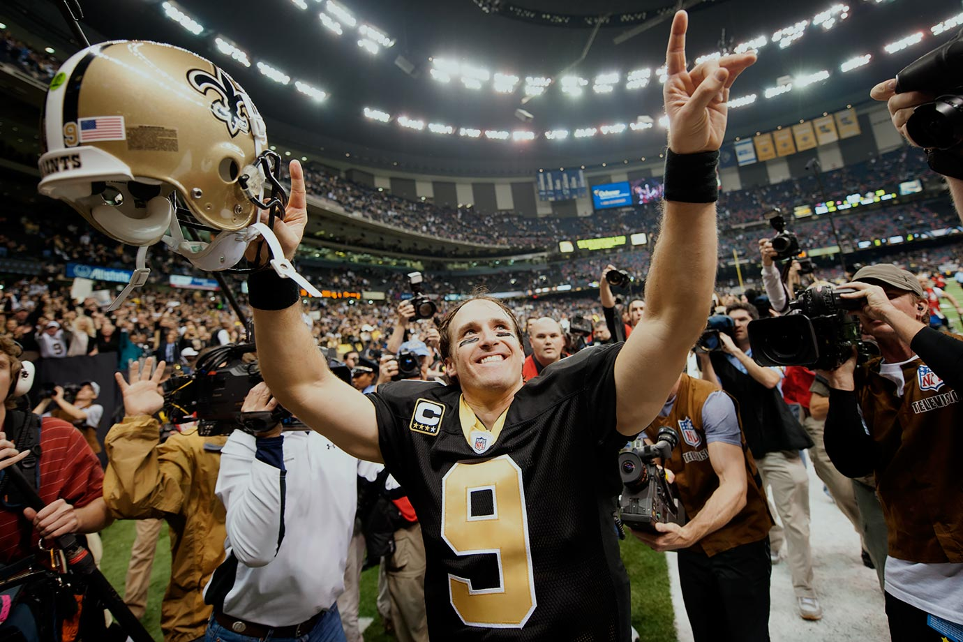 Drew Brees and the Saints had New Orleans' fans dreaming of a perfect season after winning their first 13 of the season, including two over Atlanta. The magic carpet ride ended when Dallas upended the Saints at home in a Saturday night game on Dec. 20, 24-17.