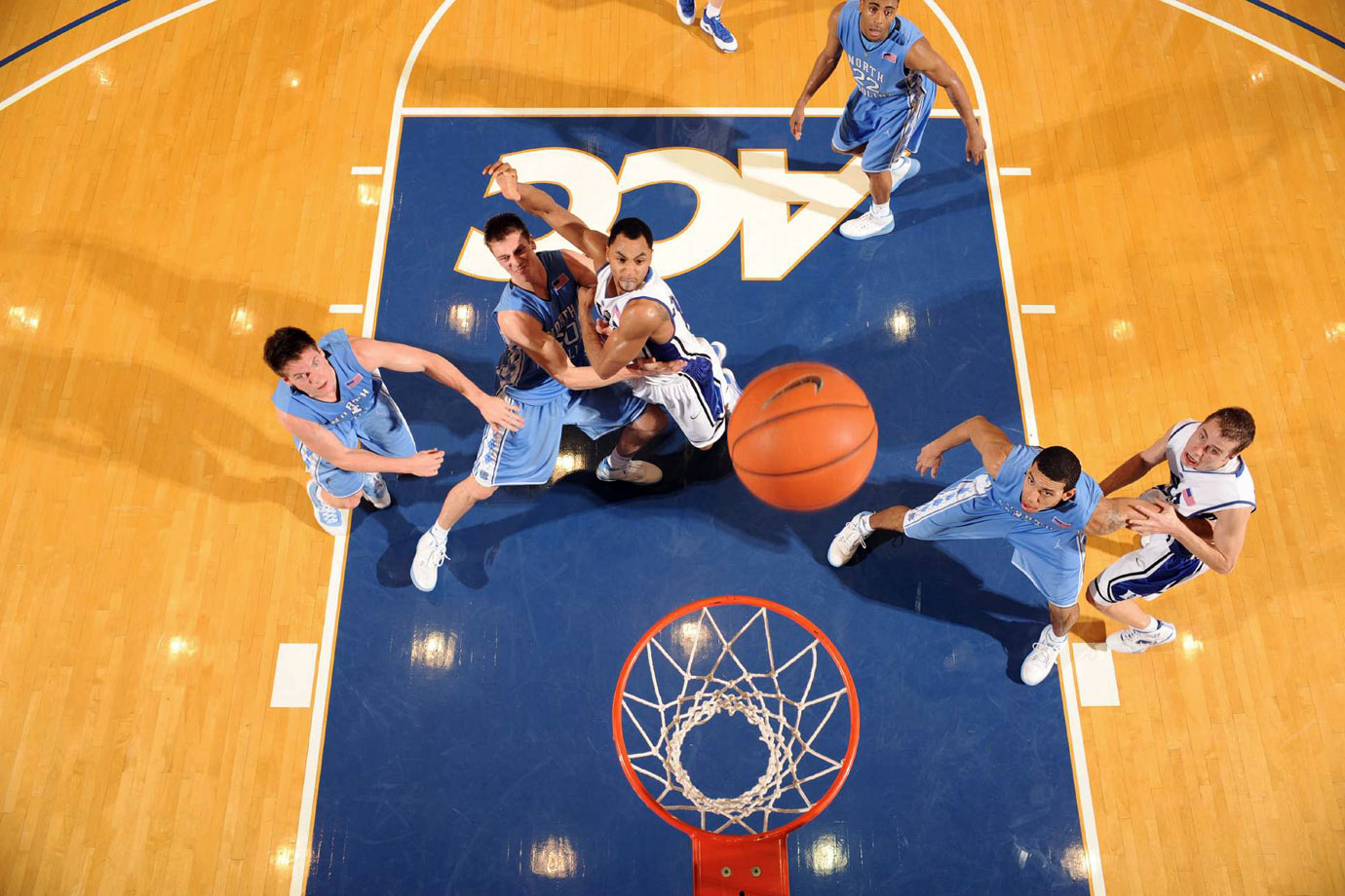 Tyler Hansbrough and Gerald Henderson
