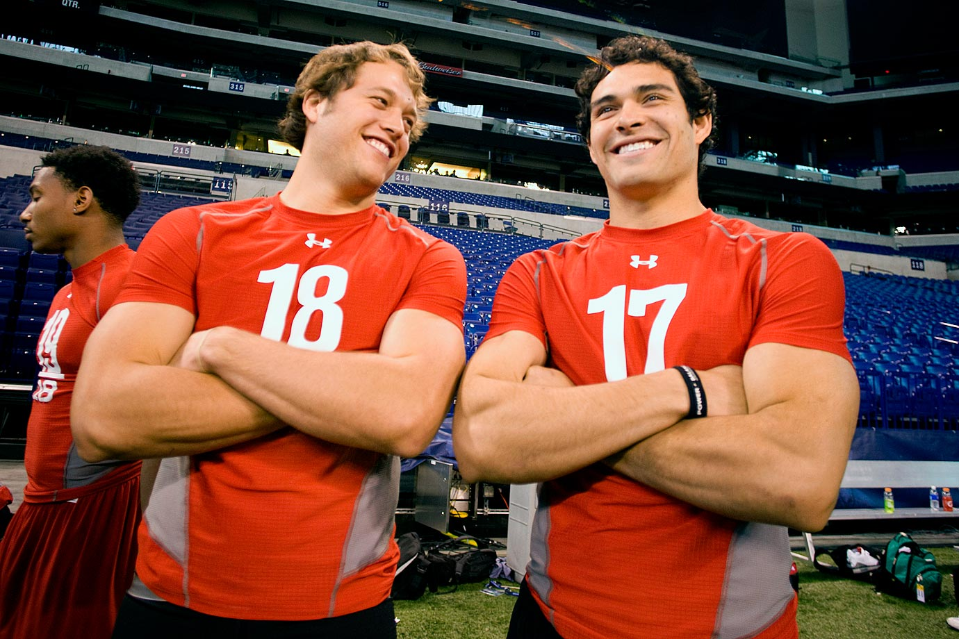 Matthew Stafford and Mark Sanchez