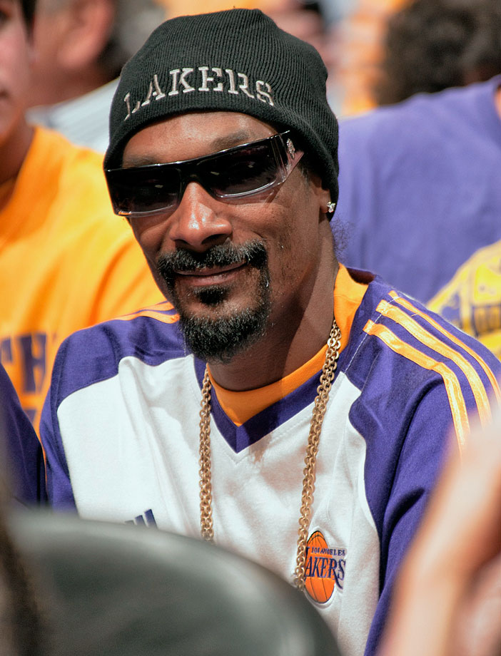Snoop Doggs attend Game One of the NBA Finals between the Boston Celtics and Los Angeles Lakers on June 3, 2010 at Staples Center in Los Angeles.