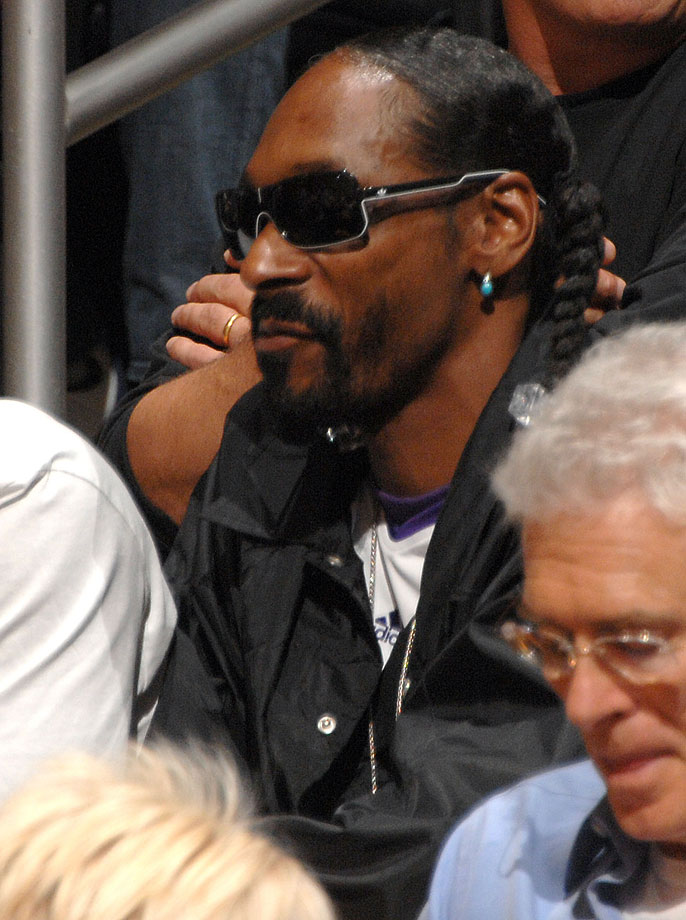 Snoop Dogg attends a game between the Houston Rockets and the Los Angeles Lakers on Oct. 26, 2010 at Staples Center in Los Angeles.