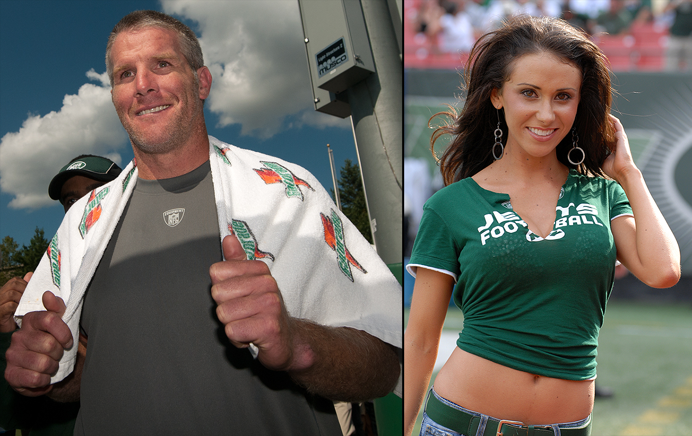 Brett Favre's 2008 season in New York leaves scandal in its wake when team employee Jenn Sterger accuses him of sending inappropriate messages and sexually explicit pictures when the two worked for the Jets. The NFL fined Favre $50,000 for failing to cooperate with its investigation as Favre played out the final games of his career with the Vikings.