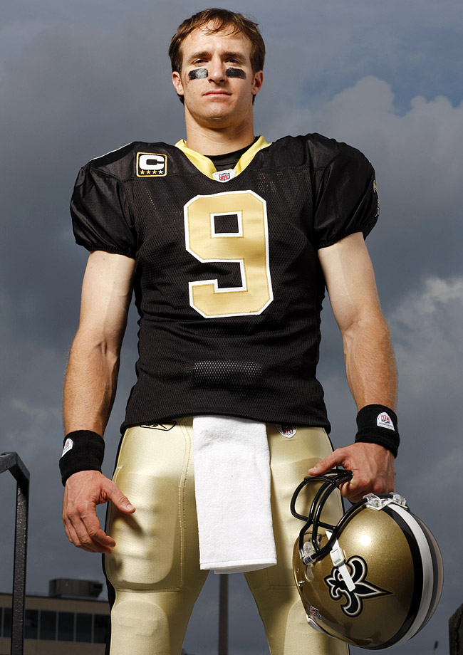 Drew Brees poses for the 2010 SI Sportsman of the Year issue.