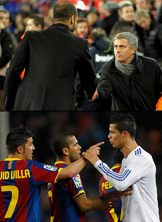 Pep Guardiola's Barcelona routs Jose Mourinho's Real Madrid 5-0 on Barcelona's 111th anniversary as a club. David Villa scored twice.