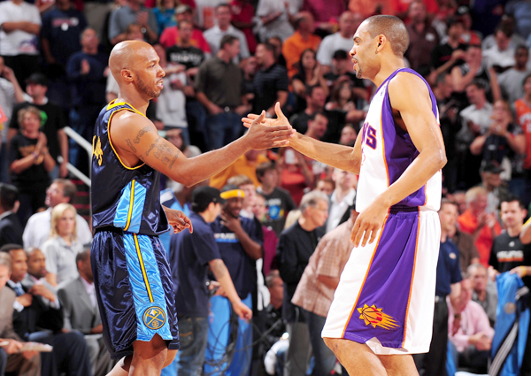 Chauncey Billups and Grant Hill :: Getty Images