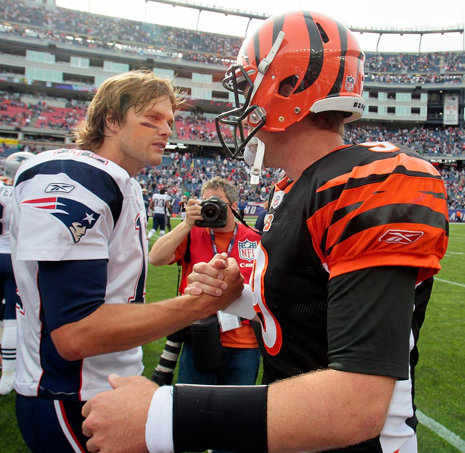 Palmer and the Bengals went 4-12 in 2010, including his fourth loss in as many career outings against Tom Brady and the Patriots. After the season, Palmer demanded a trade from the Bengals and said he would retire if the team didn't adhere to his wishes. He was placed on the reserve/did not report list on July 29, 2011, after failing to report to training camp, with the Bengals drafting Andy Dalton to replace him.