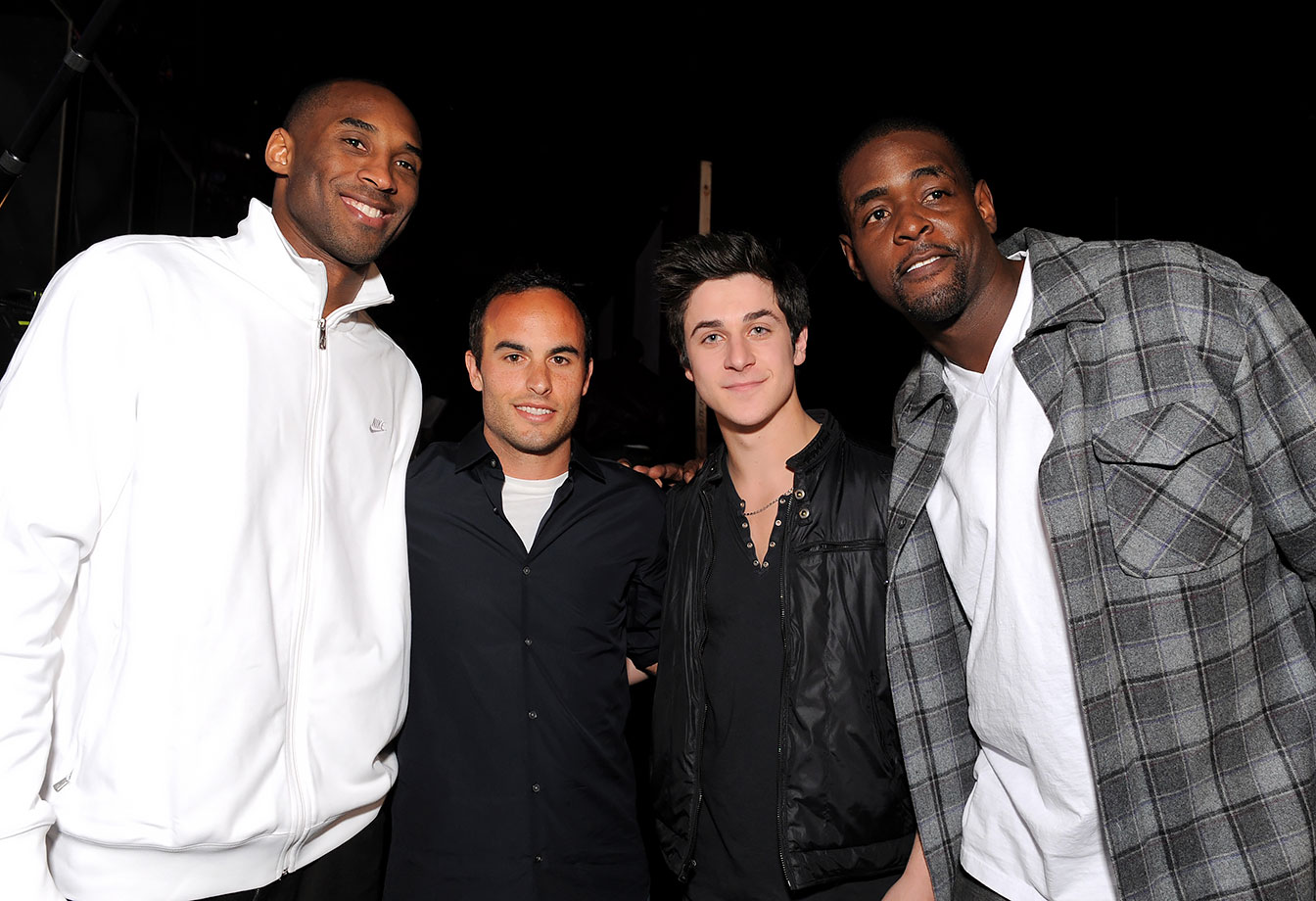 Kobe Bryant, Landon Donovan, David Henrie and Chris Webber attend the Cartoon Network Hall of Game Awards held at The Barker Hanger in Santa Monica, Calif.