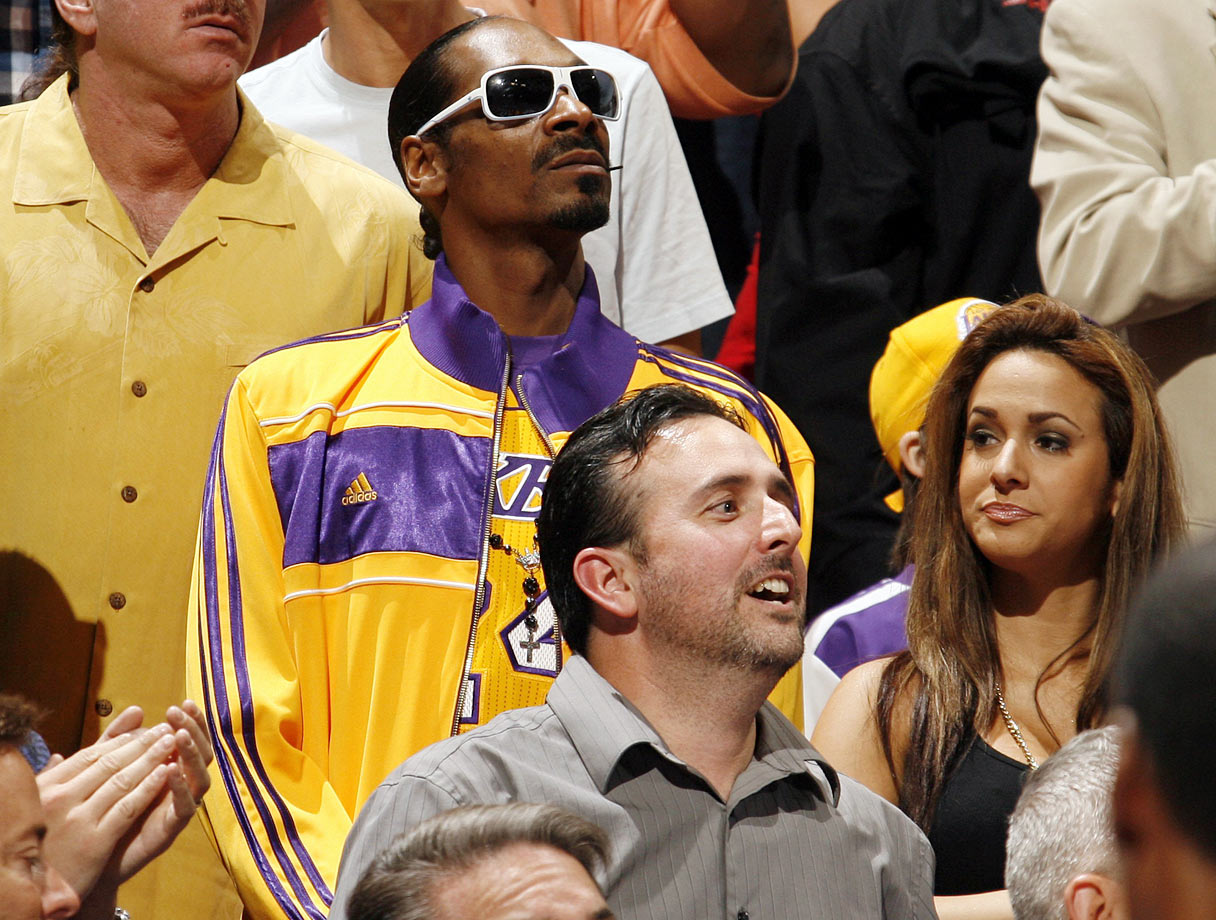 Snoop Dogg attends the Los Angeles Lakers game against the Miami Heat on March 10, 2011 at American Airlines Arena in Miami.