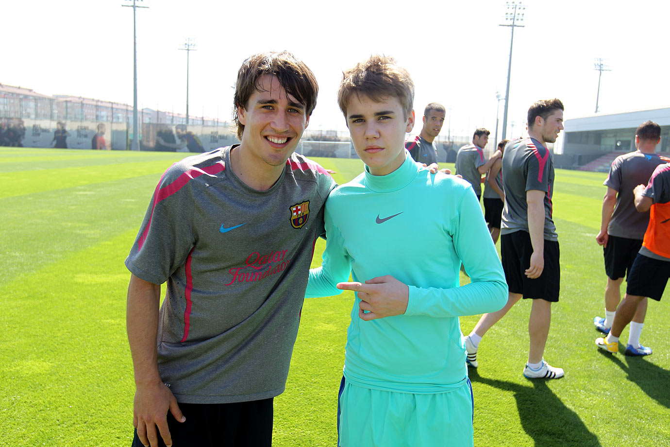 April 9, 2011: FC Barcelona training session in Barcelona, Spain