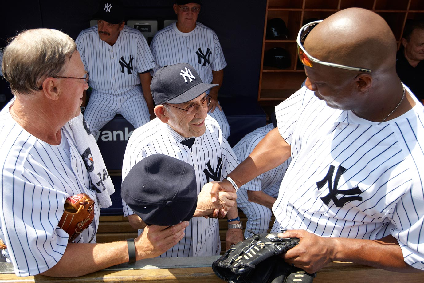 with Yogi Berra and Mel Stottlemyre
