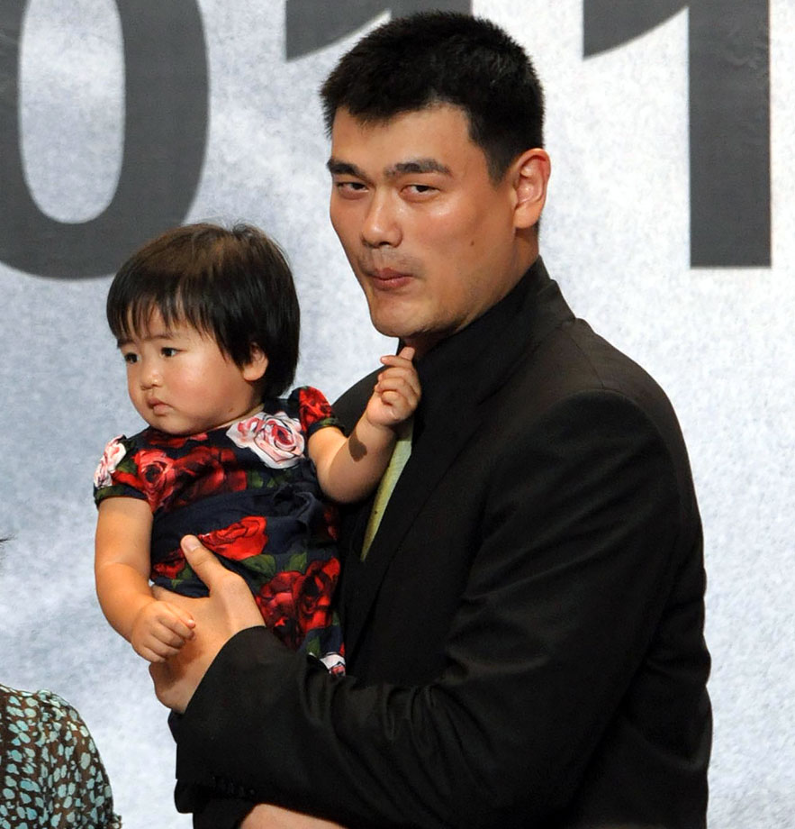Yao Ming and daughter Yao Qinlei