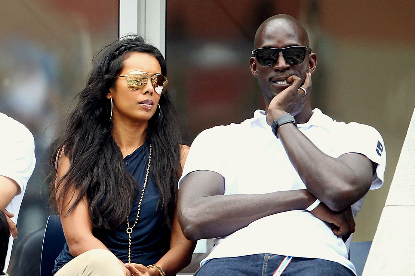 Kevin Garnett and his wife Brandi attend Day 8 of the 2011 U.S. Open.
